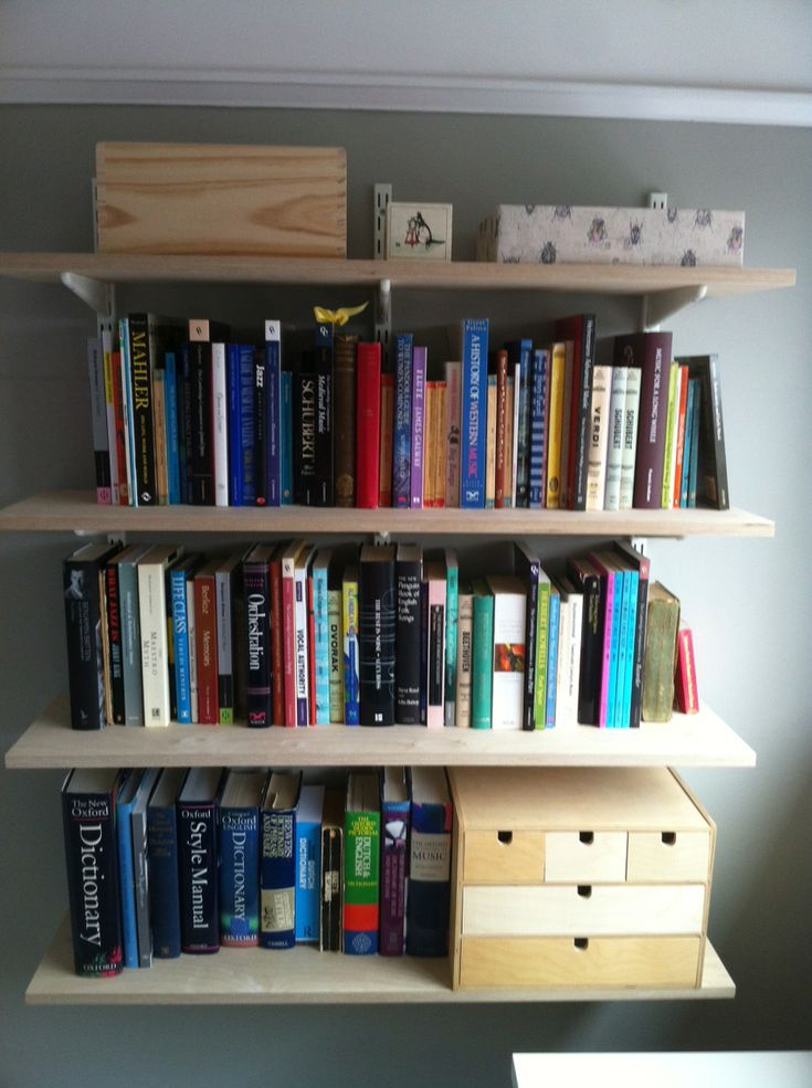 Two slot Spur shelving in the study.