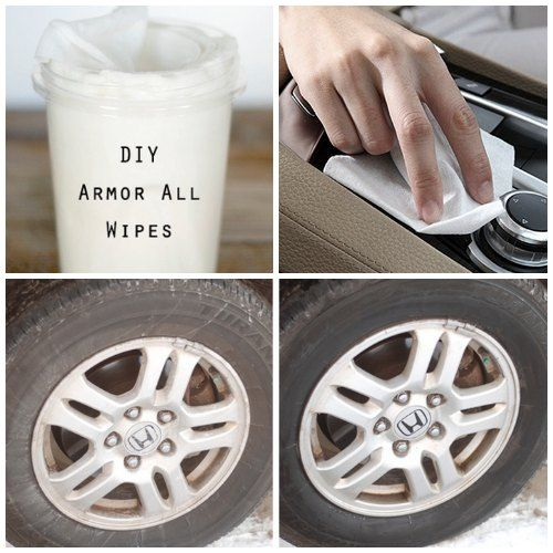DIY Homemade Armor All Wipes | Beautify your car or truck with DIY Armor All wipes that clean and protect vinyl surfaces and give tires a nice sheen.