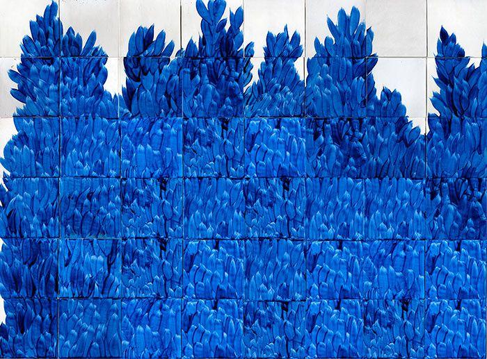 Carreaux : Carreaux Buisson Bleu (Emery &Cie).