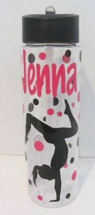I love these personalized water bottles as gymnastics party favors!