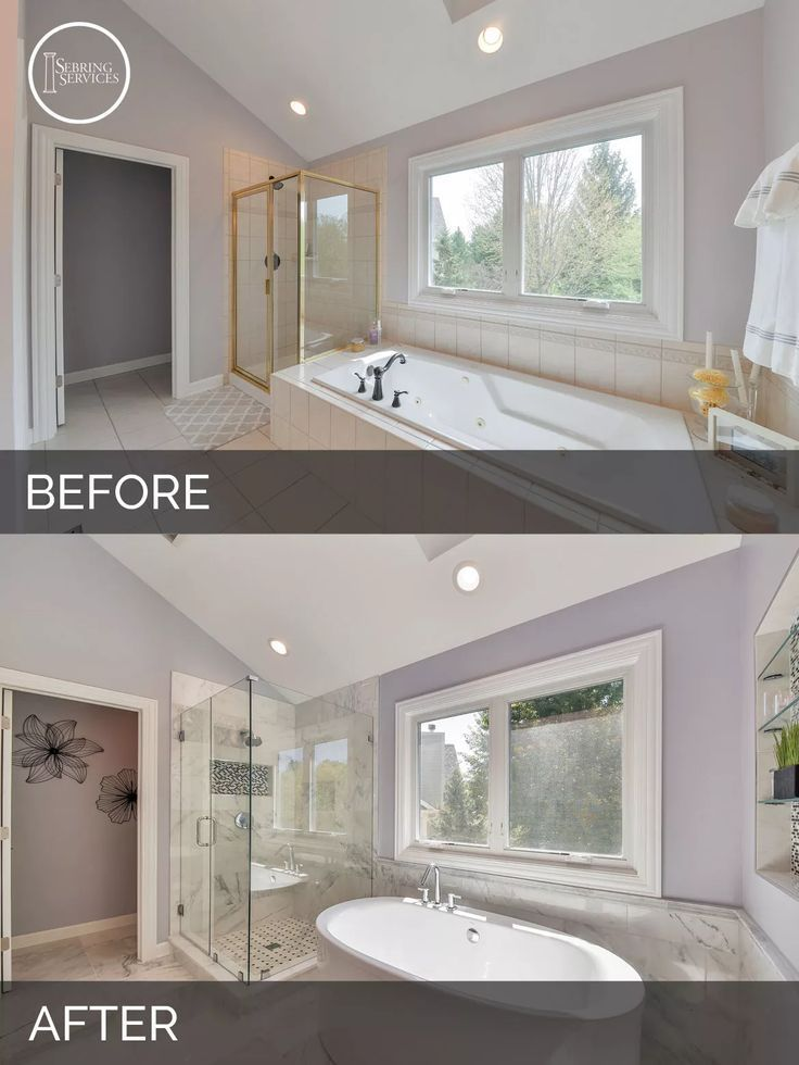 Pin By Gonawa On 50 Bathroom Remodel Before And After