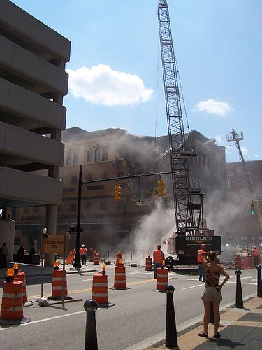 Demolition of Israel's to make way for the JW Marriott - 2005