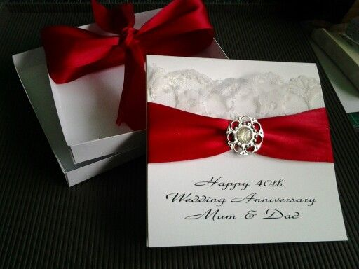 Anniversary card and box