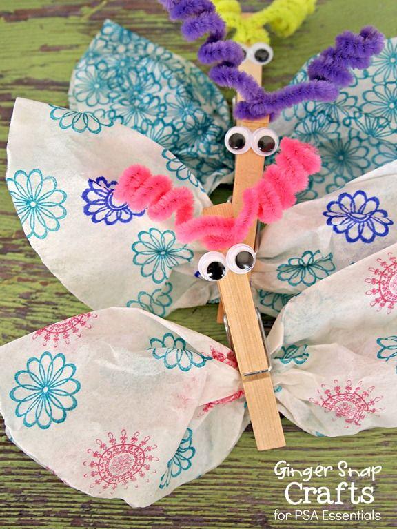 Coffee Filter Butterflies ~ Kid Craft {tutorial} | Crafts ...