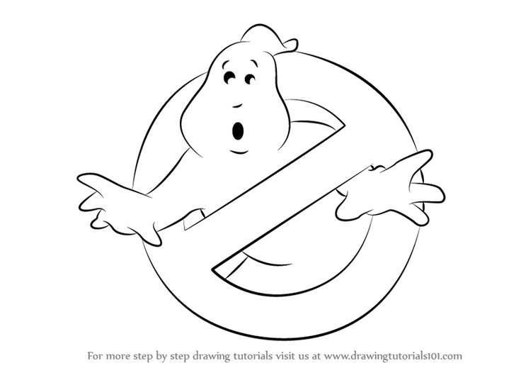 Step by Step How to Draw Ghostbusters Logo DrawingTutorials101.com
