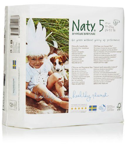 Naty by Nature Babycare Couches Écologiques Jetables Taille 5 Junior 11-25 kg 23 Couches Lot de 4 (92 couches)