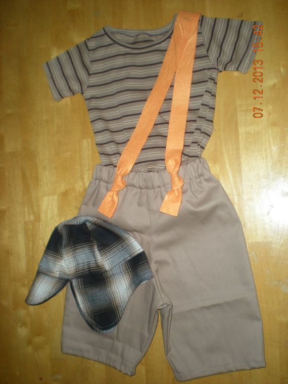 Chavo del ocho inspired costume (5 pieces shorts, shirt, braces and cap)(Size 6 months to 5T) on Etsy, $38.99