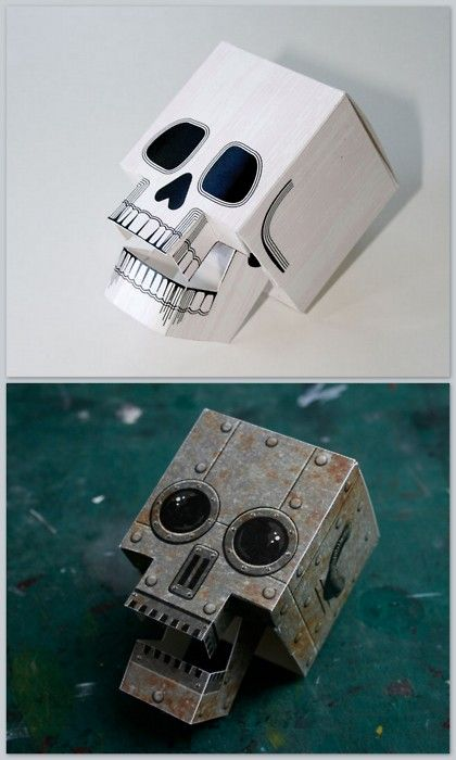 Free PDF Downloads. DIY Papercraft Skull with Articulated Jaw here and…