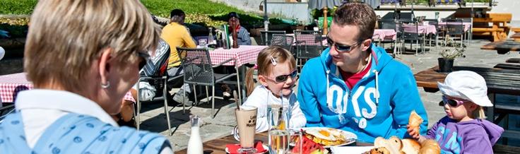 Sunday brunch on Marguns, Engadin, Grisons, Switzerland