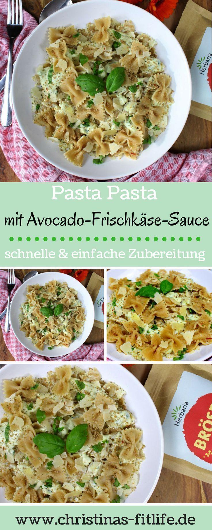 #Hautpflege-Rezepte-Pasta mit Avocado-Frischkäse-Sauce  #Hautpflege-Rezepte Pas…