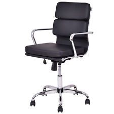 eBay $80 Low Back PU leather Executive Office Chair Computer Desk Task Swivel Black