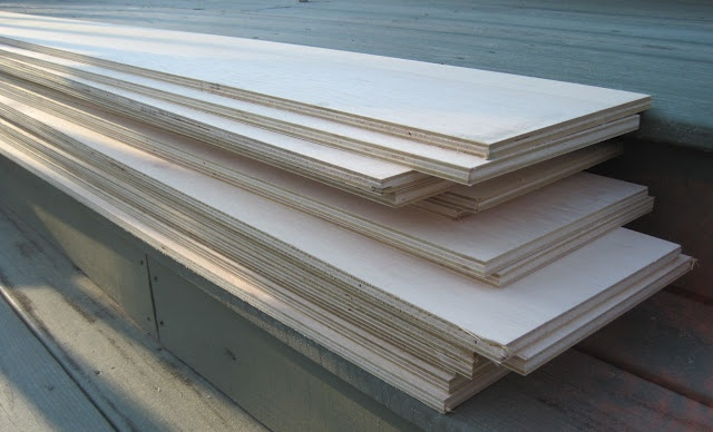 White Plywood Plank Walls