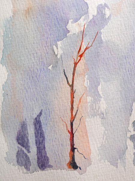 arbre en négatif