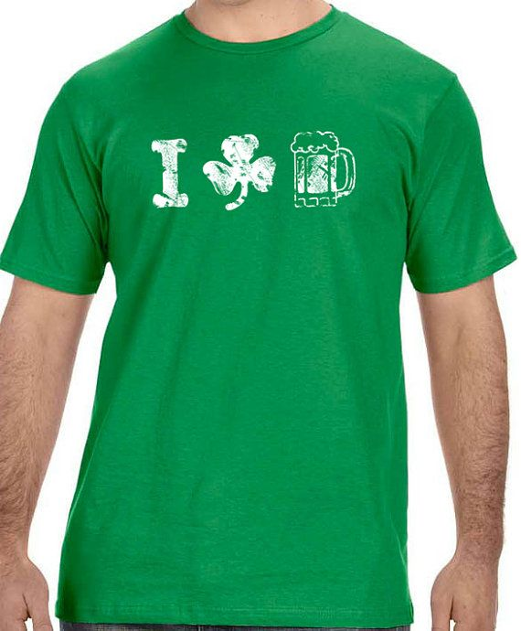 Husband Gift I Love Beer Mens T shirt Valentines Day St by ebollo