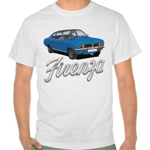Vauxhall Firenza blue, black roof + text  #vauxhall #firenza #vauxhallfirenza #automobile #tshirt #tshirts #70s #classic