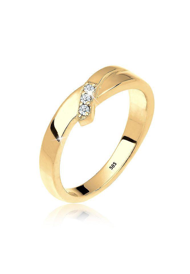 Diamore Ring »Trio Verlobung Diamant 0.06 ct. 585 Gold« Jetzt bestellen unter: https://mode.ladendirekt.de/damen/schmuck/ringe/goldringe/?uid=d518ac1c-08e5-514a-91d5-b21db8fe0201&utm_source=pinterest&utm_medium=pin&utm_campaign=boards #schmuck #ringe #keine #goldringe Bild Quelle: baur.de