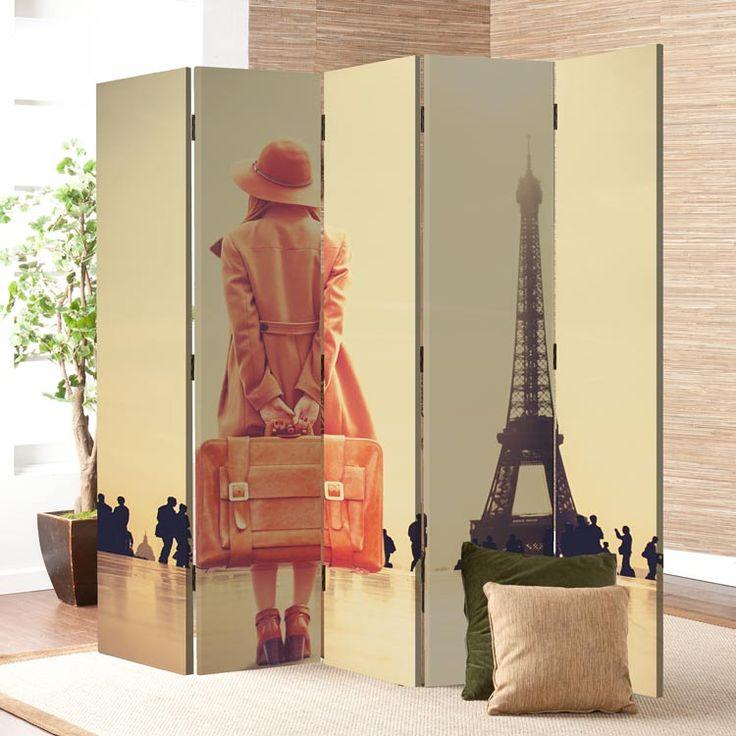 Πεντάφυλλο παραβάν! Μια vintage εικόνα του Παρισιού στο σπίτι σας! https://www.houseart.gr/paravan/vintage/koritsi-me-valitsa-16216 #παραβάν #πίνακες #φωτιστικά #ρολοκουρτίνες #stickers #dividers #canvas #lights #roller #wallpapers