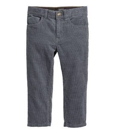 Pantalón de pana   Gris   NIÑOS   H&M CO