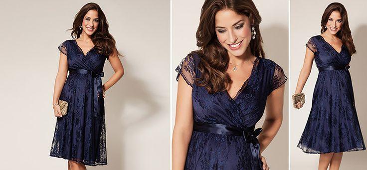 Eden Kleid dunkelblau aus der Kategorie Festliche Umstandsmode von Mamarella - Details