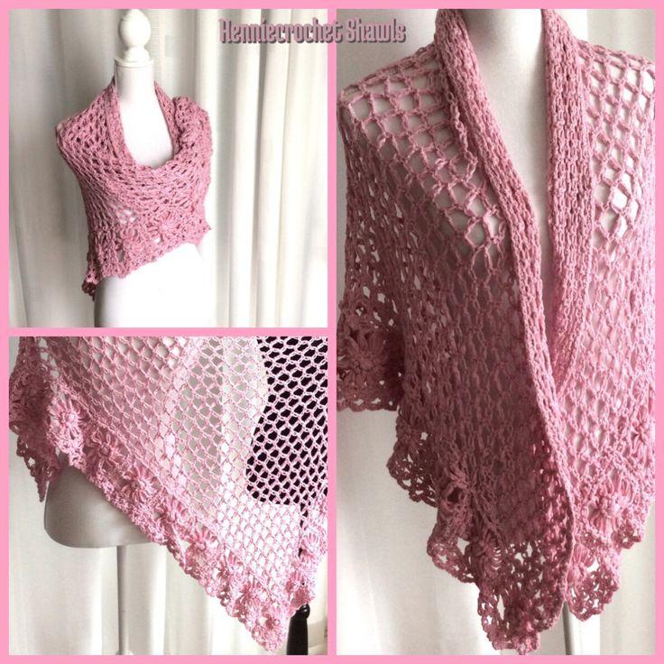 Een persoonlijke favoriet uit mijn Etsy shop https://www.etsy.com/nl/listing/484525536/gehaakte-bruids-sjaal-roze-katoen