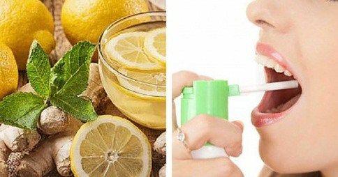 spray natural casero para combatir el dolor de garganta