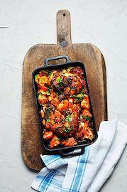 Recept: Röd kyckling med potatis - DN.SE