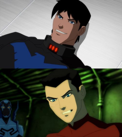 Nightwing and Robin unmasked