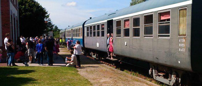 Le train touristique du Cotentin.
