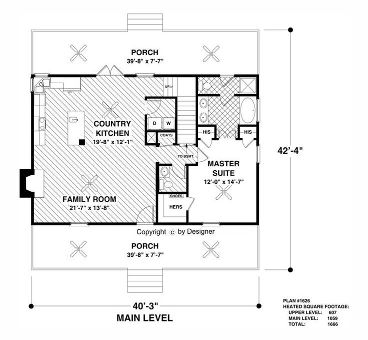 Main Level Floor Plan image of The Greystone Cottage