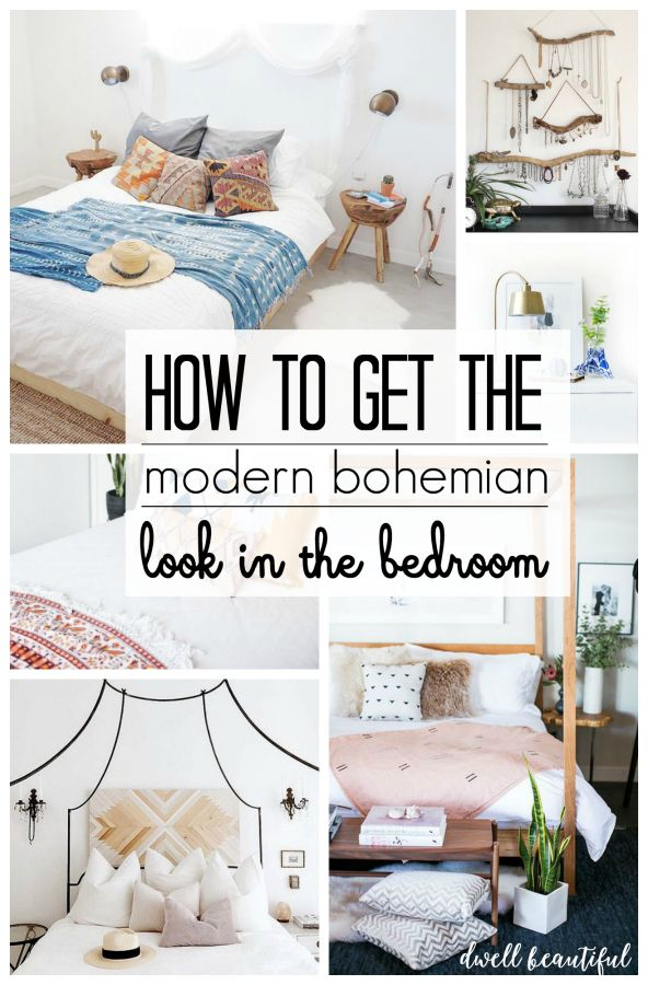 Dwell Beautiful shares how to get the gorgeous modern bohemian bedroom look in your home. Scroll through the bedroom inspiration and tips for ideas!