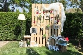 Photocall palets de Sweet Event Decor | Fotos