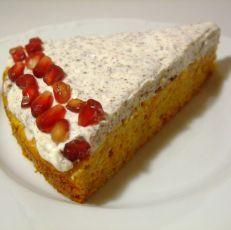 Jablečný mrkvový koláč se stracciatellovým krémem