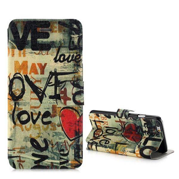 Love design compact sideflip hoesje voor iPhone 6