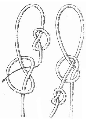Honda - one of the oldest knot-methods of breeding loop. Archaeological finds on different continents, show that in this way in ancient times, the string attached to the bow.