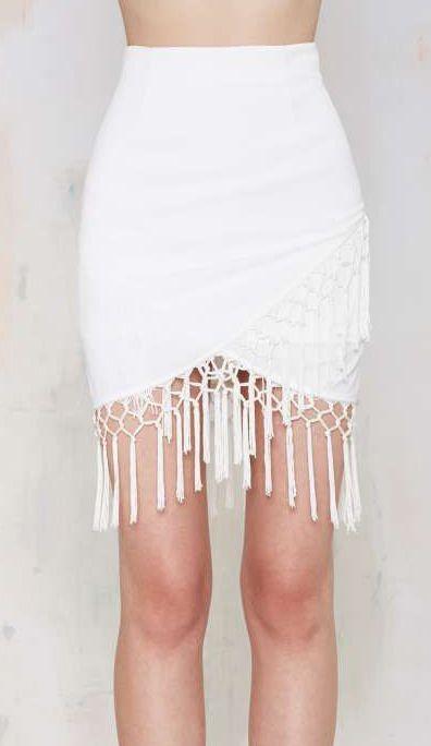 Joa Salsa Fringe Skirt - Skirts