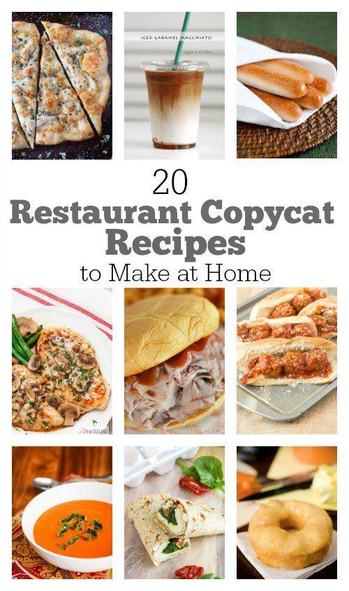 20 Restaurant Copycat #Recipes to Make at Home @recipegirl