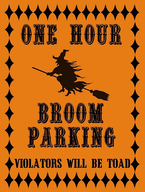 one hour broom parking printable art