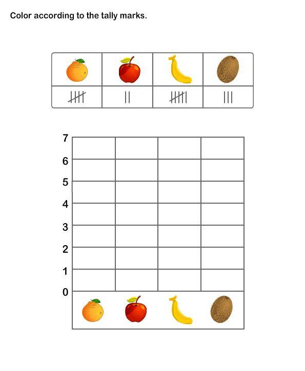 Math Worksheets, Grade-2 Worksheets, Tally Chart Worksheets