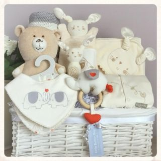 Baby Gift Basket, Baby Gift Hamper, boy & girl luxury newborn baby gift hamper, luxury baby basket, unique baby gift