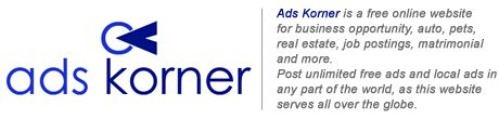 Post Free Classifieds Ads, Search Free Classified Ads online   Free Classified Advertisement on Adskorner Classifieds