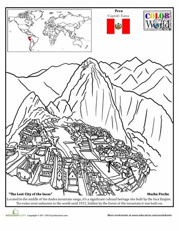 machu picchu coloring page - 1000 ideas about earth coloring pages on pinterest