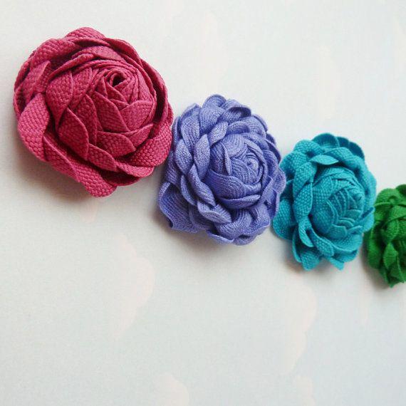 Ribbon Flower Tutorial  Joy Flower  DIY popular Brazilian by Soles, $6.90