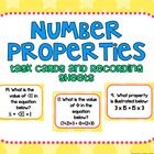 This set of 20 task cards covers identifying and using number properties. This set contains 20 cards.  This also includes 3 different types of reco...