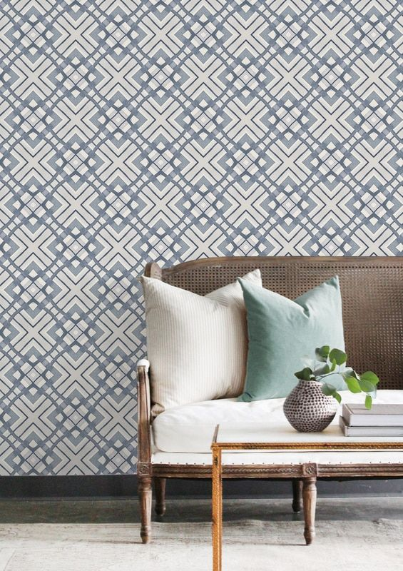 le havre wallpaper in indigo wallpaper contemporary design rh pinterest com