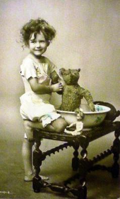 teddy bear bath: