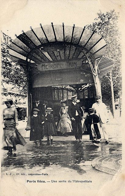 France. Art Nouveau Metro gate, early stations in Central Paris, 1900. | Flickr