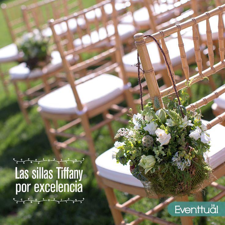 Las Tiffany son las sillas por excelencia para eventos como bodas, en nuestro mobiliario las encuentras en diferentes colores. Llámanos al 4445833 o escríbenos al correo eventtualproducciones@gmail.com