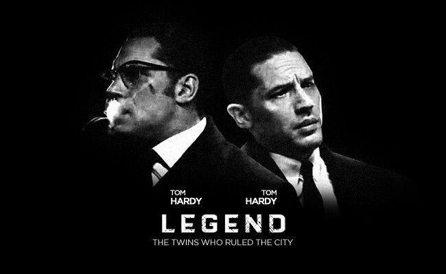 Artwork for Legend. Tom's new film. Out September 2015