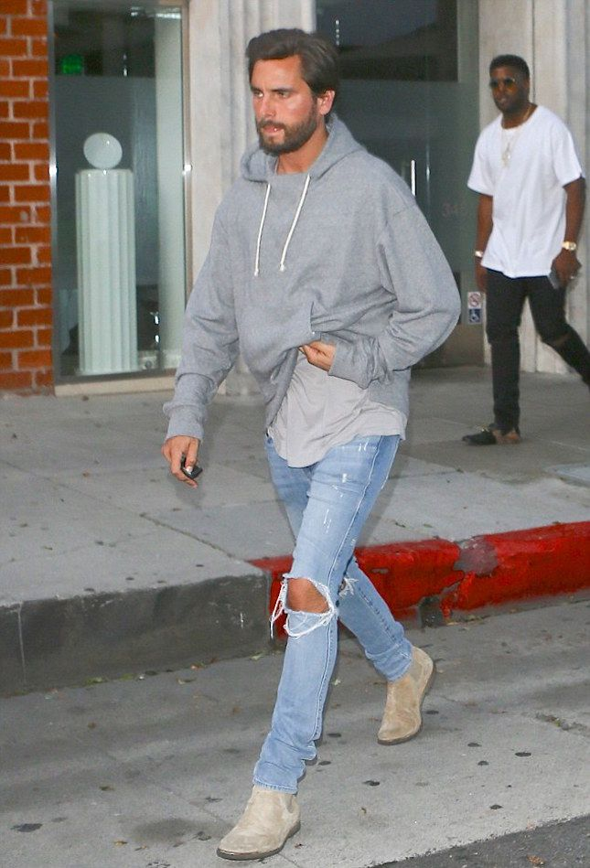 Scott Disick Stunts Hopping Out Of His BMW i8 Wearing A John Elliott Hoodie, Ksubi Jeans And Common Projects Boots   UpscaleHype