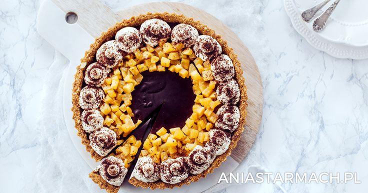 Tarta czekoladowa z gruszkami   Ania Starmach